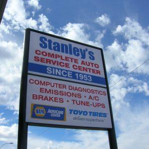 Free Standing Sign Automotive Repair Center Phoenix