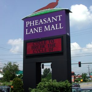 Pylon Free Standing Monument Sign - Pheasant Lane Shopping Mall