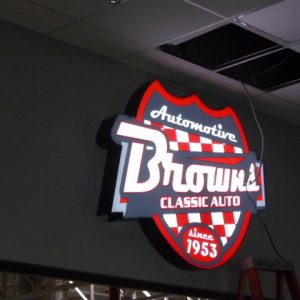 Interior-Office-Sign-Browns-Classic-Auto
